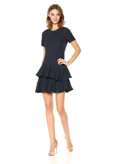 Rebecca Taylor Women's Shortsleeve Pucker Jacquard Dress