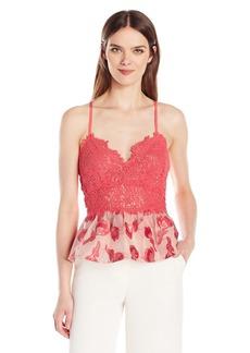 Rebecca Taylor Women's Sl Floral Jqd Top