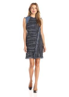 Rebecca Taylor Women's Sleeveless Boho Tweed Dress