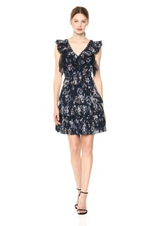 Rebecca Taylor Women's Sleeveless Faded Floral Dress