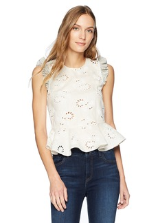 Rebecca Taylor Women's Sleeveless Garden Eyelet Top