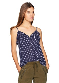 Rebecca Taylor Women's Sleeveless Ikat dot cami  M