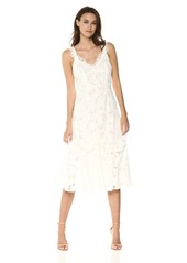 Rebecca Taylor Women's Sleeveless lace Embroidered midi Dress