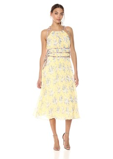 Rebecca Taylor Women's Sleeveless Lemon Pleat Dress Combo