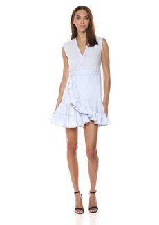 Rebecca Taylor Women's Sleeveless Poplin Wrap Dress