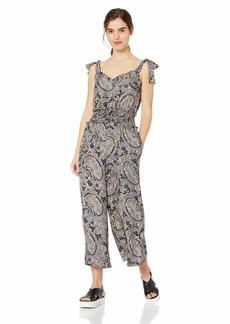 Rebecca Taylor Women's Sleeveless Print Jumpsuit BLEU Combo M