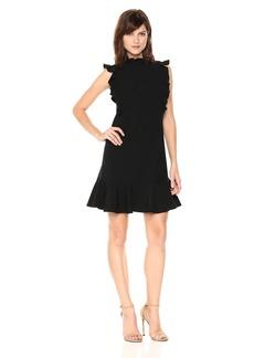 Rebecca Taylor Women's Sleeveless Ruffle Suit Dress