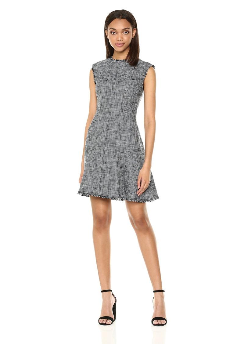 Rebecca Taylor Women's Sleeveless Slub Suiting Dress