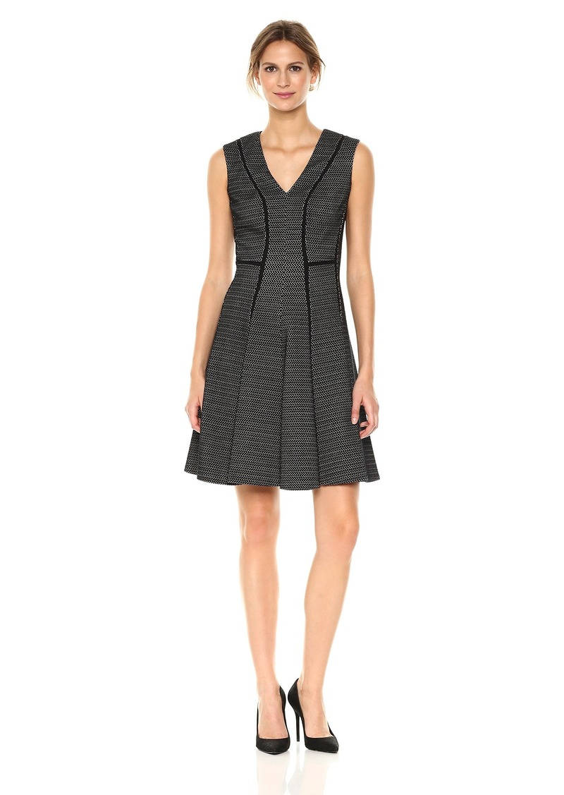 Rebecca Taylor Women's Sleeveless Textured Stretch Dress