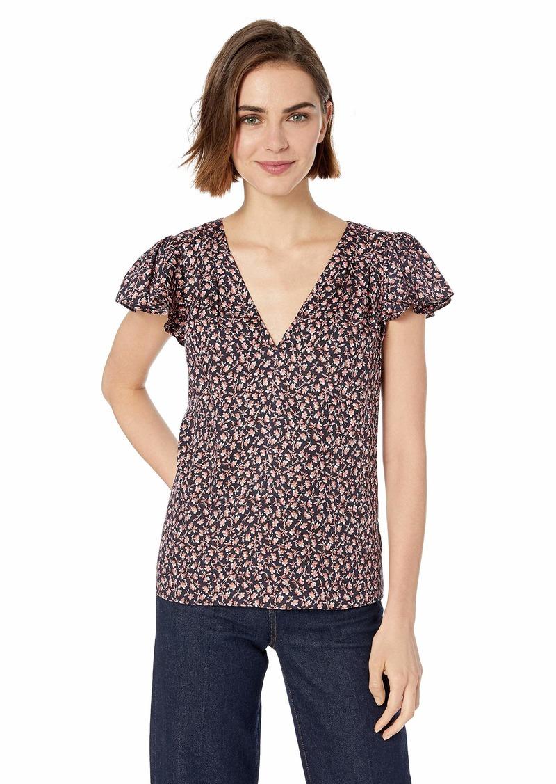 Rebecca Taylor Women's Sleeveless V-Neck Printed Top