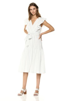 Rebecca Taylor Women's Sleeveless Yarn Dye Stripe Dress