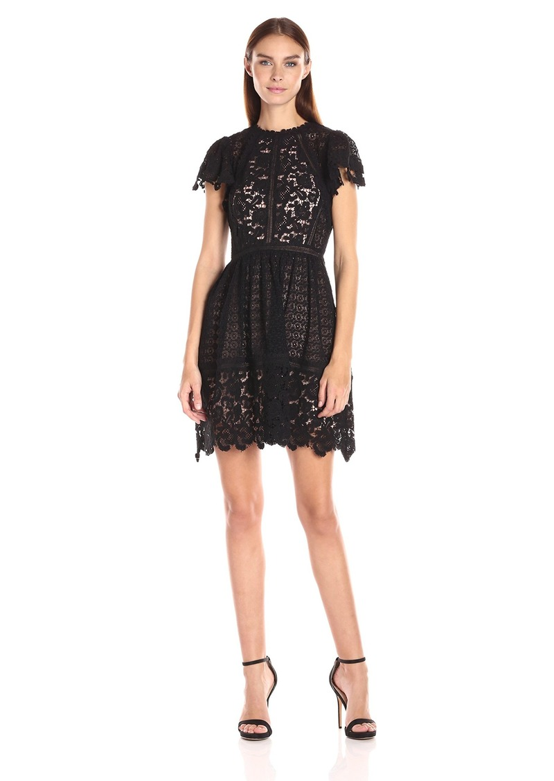 Rebecca Taylor Women's Ss Lace Mix Dress