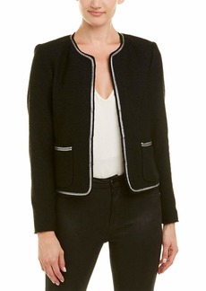 Rebecca Taylor Women's Stretch Tweed Embroidered Jacket