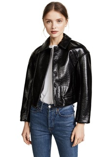 Rebecca Taylor Women's Textured Vegan Leather Jacket