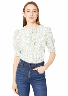 Rebecca Taylor Women's Three Quarter Sleeve Floral Top