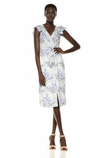 Rebecca Taylor Women's V-Neck Midi Dress