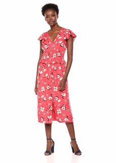 Rebecca Taylor Women's V-Neck Midi Dress  S