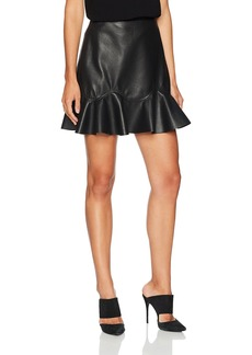Rebecca Taylor Women's Vegan Leather Skirt