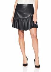 Rebecca Taylor Women's Vegan Leather Skirt