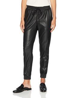 Rebecca Taylor Women's Vegan Leather Track Pant