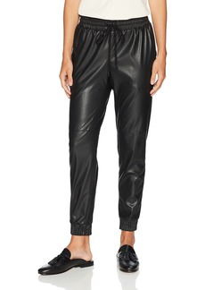 Rebecca Taylor Women's Vegan Leather Track Pant
