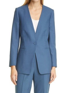 Rebecca Taylor Wool Blend Gabardine Jacket