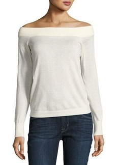Rebecca Taylor Wool-Blend Off-the-Shoulder Sweater