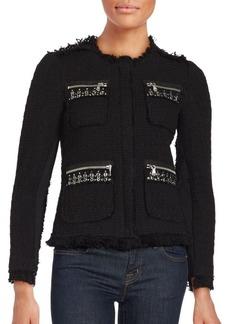 Rebecca Taylor Wool Blend Tweed Jacket