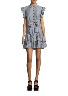 Rebecca Taylor Yarn-Dyed Striped Dress