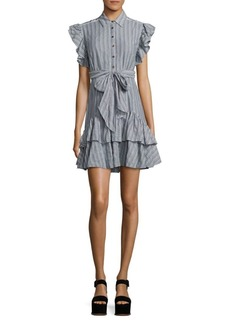 Rebecca Taylor Yarn-Dyed Striped Dress