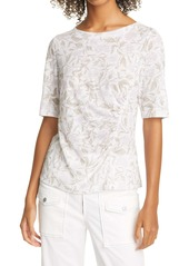 Rebecca Taylor Zadie Fleur Linen T-Shirt