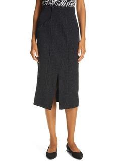 Rebecca Taylor Zebra Fleur Silk Skirt