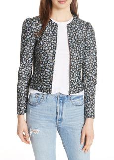 Rebecca Taylor Zelma Floral Leather Jacket
