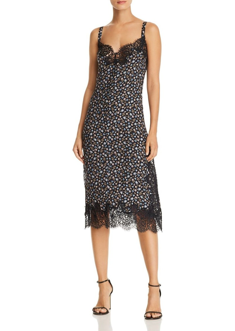Rebecca Taylor Zelma Floral Silk Slip Dress