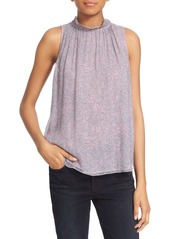 Rebecca Taylor 'Zoe Fleur' Print Sleeveless Gauze Top
