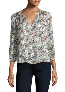Rebecca Taylor Ruby Floral-Print Top