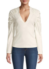 Rebecca Taylor Ruched-Sleeve Blouse