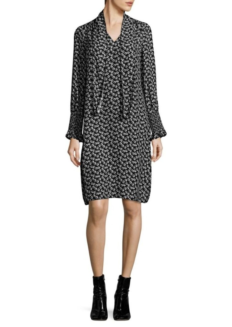 Rebecca Taylor Rue Silk Floral-Print Dress