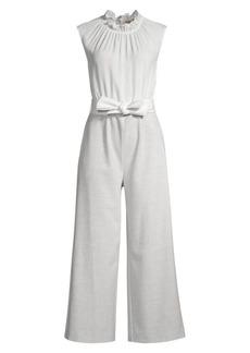 Rebecca Taylor Ruffle Strech-Silk Suiting Jumpsuit