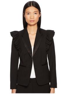 Rebecca Taylor Ruffle Wool Jacket