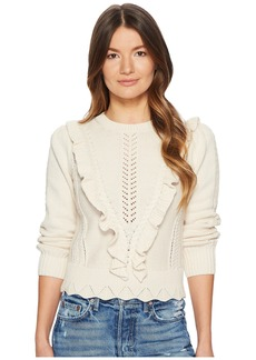 Rebecca Taylor Ruffled Cable Pullover