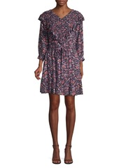 Rebecca Taylor Ruffled Floral Dress