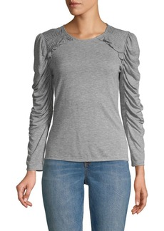 Rebecca Taylor Ruffled Long-Sleeve Jersey Top