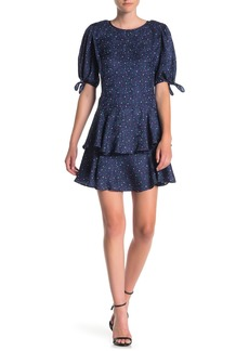 Rebecca Taylor Ruffled Polka Dot Silk Dress