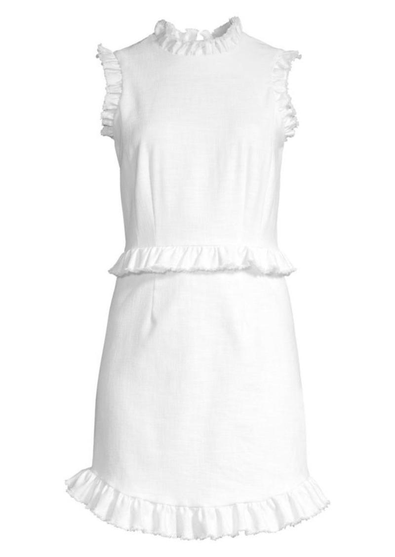 Rebecca Taylor Ruffled Sheath Dress