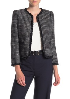 Rebecca Taylor Ruffled Tweed Jacket