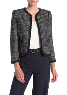 Rebecca Taylor Ruffled Tweed Jacket