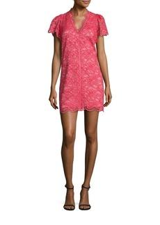 Rebecca Taylor Scalloped Lace Shift Dress