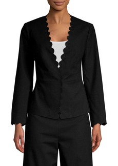 Rebecca Taylor Scalloped Suit Jacket