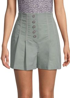 Rebecca Taylor Seamed Linen Shorts